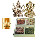 Laxmi Ganesh Idol with Dry Fruits